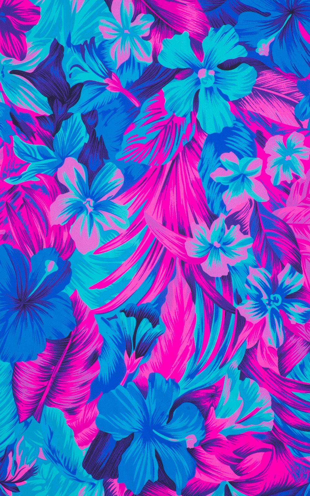Tahitian Magenta/Aqua 1