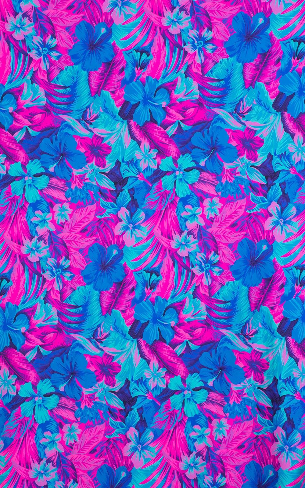 Tahitian Magenta/Aqua Fabric