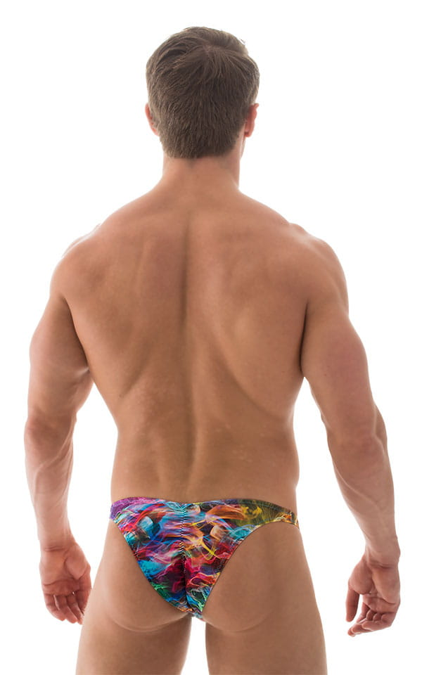 Fitted Pouch Puckered Back Bikini in Vapors 3