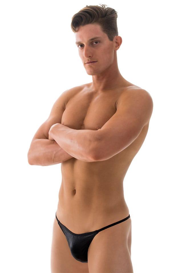 Super Low Brazilian Bikini in Wet Look Black 4