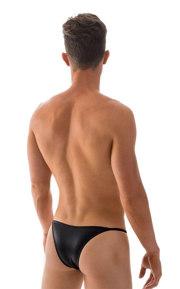 Super Low Brazilian Bikini in Wet Look Black 3