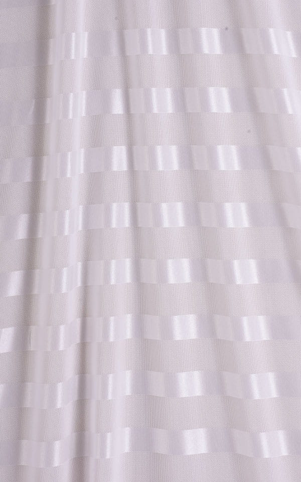 Mini Strapless Bodycon Dress in White Satin Stripe Mesh 9.9