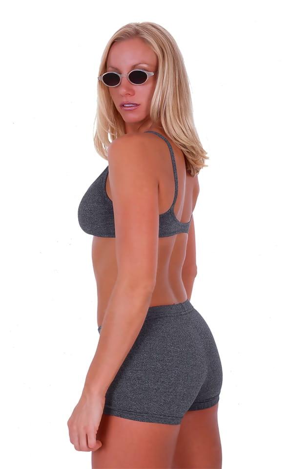 Womens Swim and Sport Fun Top in Dark Heather Grey Cotton-Spandex 10oz 3