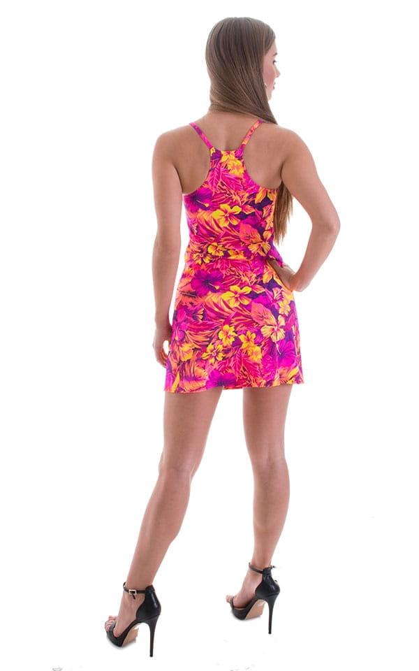 Cover Up Mini Dress in Tahitian Sunset 3