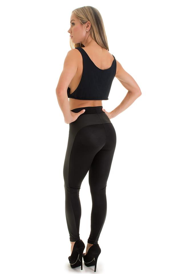 Paneled leggings in Neoprene & Black 3