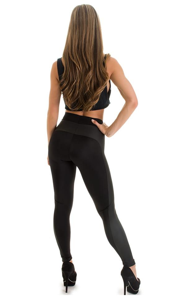 Paneled leggings in Neoprene & Black 5