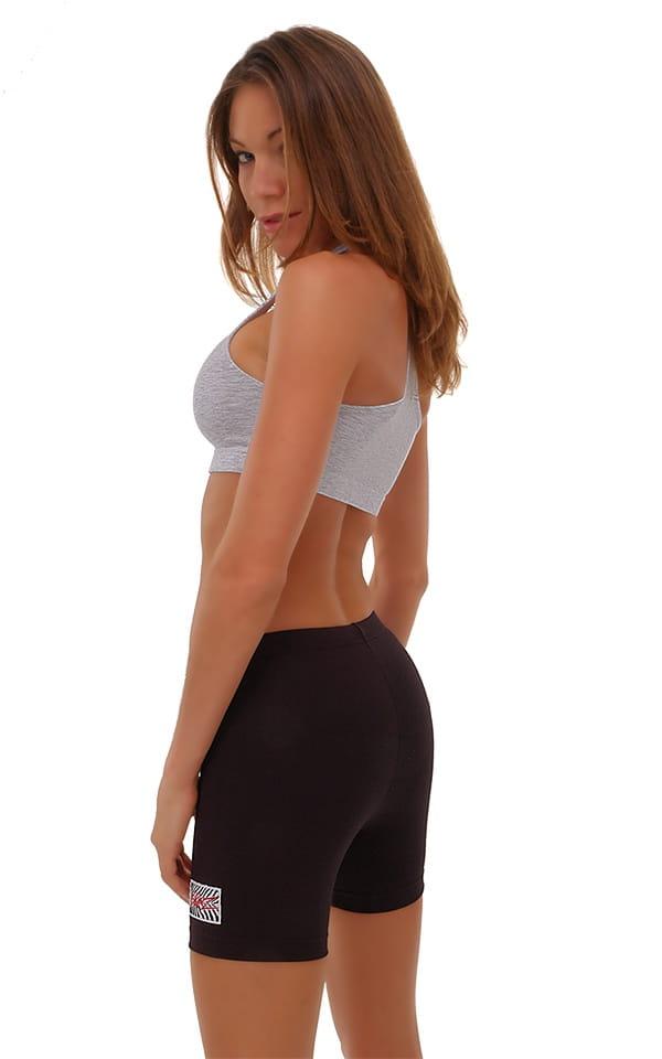 Womens Sport Top in Heather Grey Cotton-Spandex 10oz 3