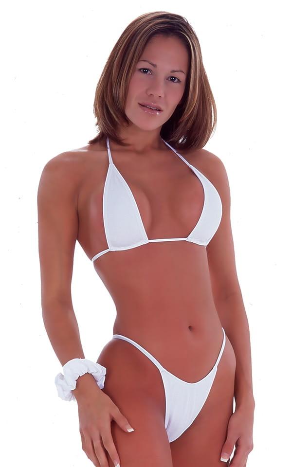 Skinny Side Rio Bikini Bottom in White 4