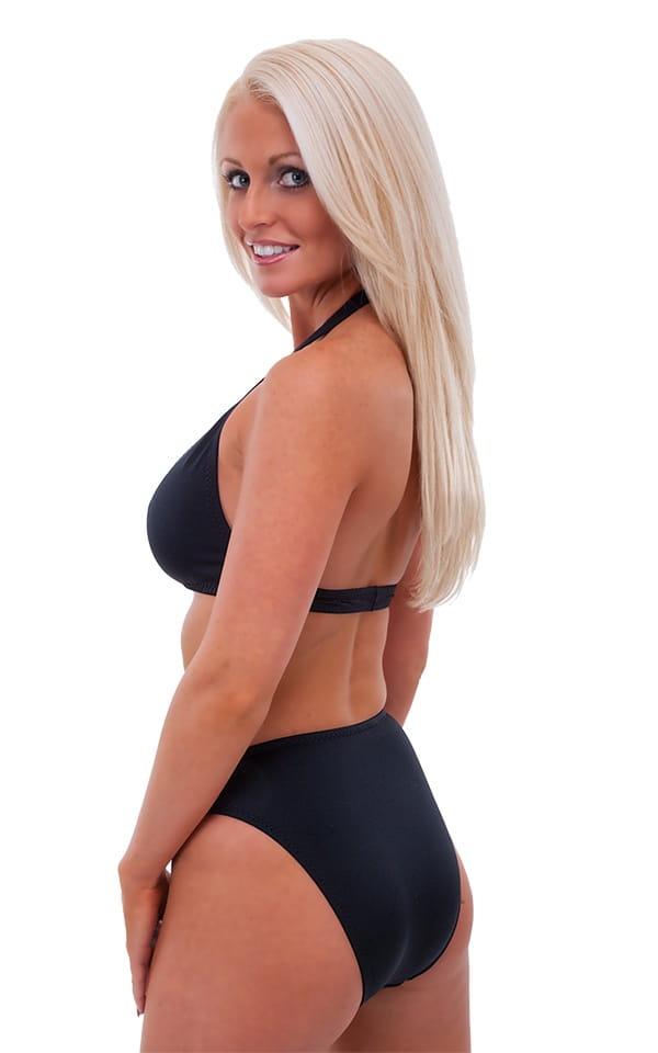 Womens Palm Beach Halter Swim Top in Black 3