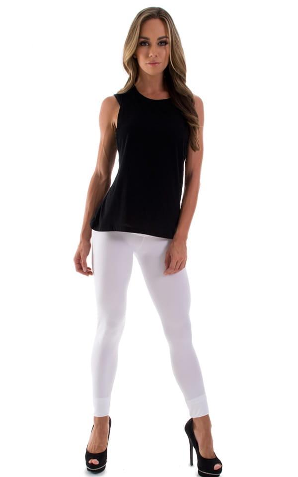 Womens Super Low Rise Leggings in Optic White 1