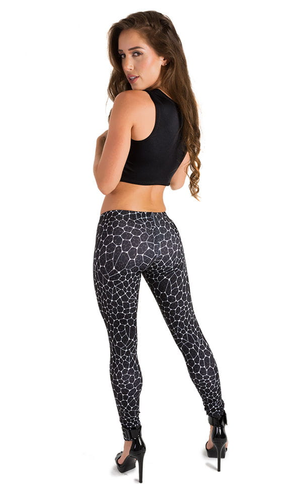 Womens Super Low Rise Fitness Leggings in String Theory 3
