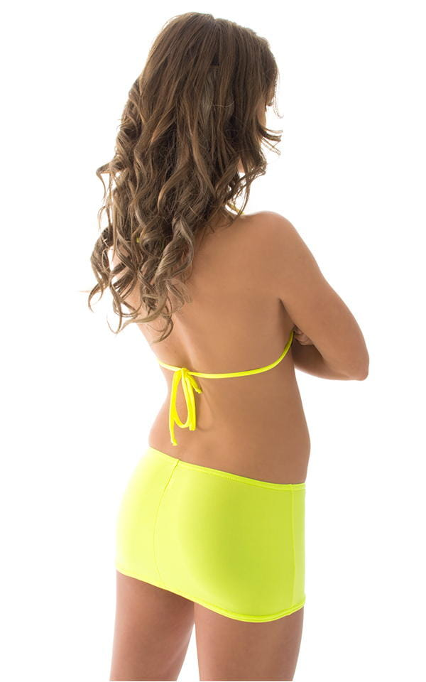 Micro Mini Skirt in ThinSkinz Neon Chartreuse 3