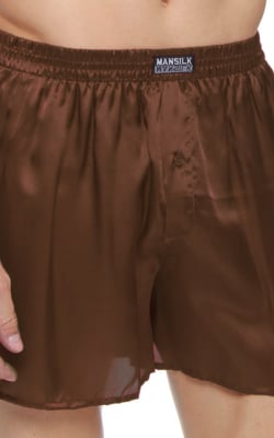 Coffee Brown Silk Boxer