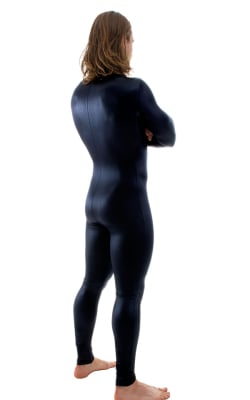 Full Bodysuit Zentai Lycra Spandex Suit for men in Wet Look Black 840055d91
