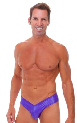 Mens Hot Pants Sexy Short Shorts in Wet Look Purple