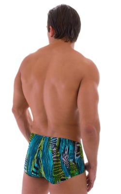 Mens-Fitted-Pouch-Square-Cut-Swim-TrunksBack