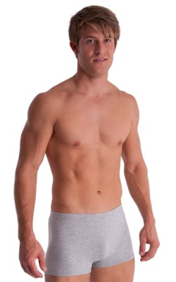 Boxer Length Underwear in Heather Grey cotton/lycra