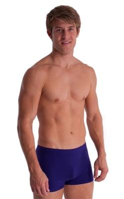 Boxer Length Underwear in Purple cotton/lycra
