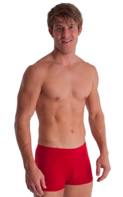 Boxer Length Underwear in Red cotton/lycra