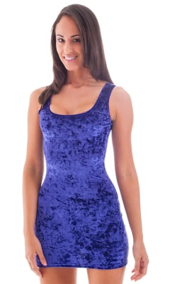 Sexy Mini Dress in Crushed Royal Purple Stretch Velvet