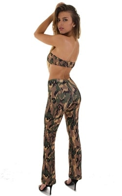 Hiphugger Boot Cut Pants in Camo