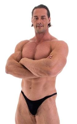 Bodybuilder Posing Suit - Narrow Back in Black