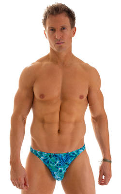 Bikini Brief Swimsuit in Liquid Bahamas