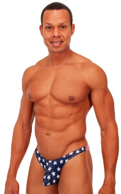 Exotic Dancer - Pouch Enhanced - Pistol Bikini in Stars and Stripes
