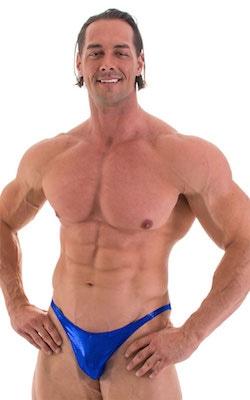 Posing Suit - Competition Bikini Cut in Metallic Royal Blue