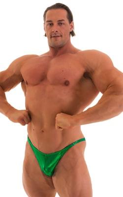 Posing Suit - Competition Bikini Cut in Metallic Kelly Green