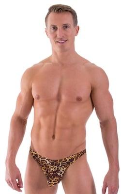 Large Pouch Swimsuit Bikini in Tarzan Leopard