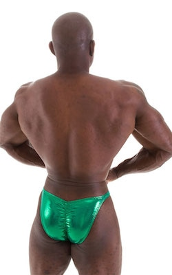 metallic green m75 posing suits