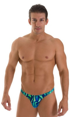 Stuffit Pouch Thong in Beach Tiger Green