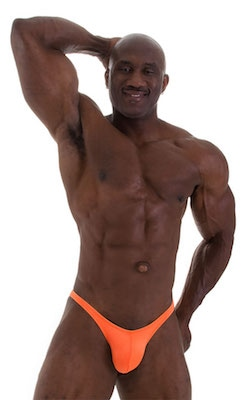 Posing Suit - Fitted Pouch - Puckered Back in Neon Orange