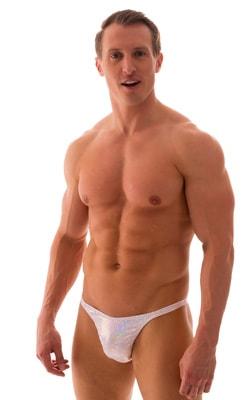 Rio Tanning Bikini Swimsuit in White Shattered Glass