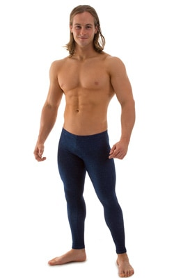 Low Rise Leggings Tights in Stretch Blue Denim cotton-lycra