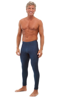Leggings Tights in Stretch Blue Denim cotton-lycra