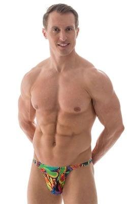 Smooth Front Bikini Bathing Suit in Carnival Tan Through