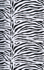 Fitted Pouch Puckered Back Bikini Swimsuit in Zebra Fabric