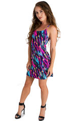 Cover Up Mini Dress in Gravity Wave 1