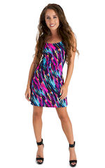 Cover Up Mini Dress in Gravity Wave 3