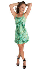 Cover Up Mini Dress in Jade Marble 1