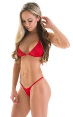 Skinny Side Rio Bikini Bottom in Red with Rhinestone Ornaments 3