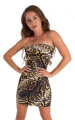 Mini Strapless Bodycon Dress in ThinSKINZ Giant Python 8