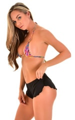 SusieQ Split Short Beach Cover-Up in Super ThinSKINZ Black 4