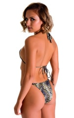 Skinny Side Rio Bikini Bottom in Super ThinSkinz Coiled Python 2