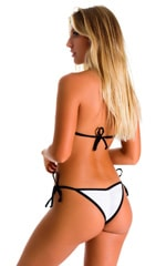 Brazilian Triangle Top in Super ThinSKINZ White with Black Strings 2