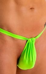 4-Way Adjustable Bikini-Tanga-Micro in Neon Lime 6