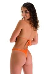 High Cut Thong Bottom in Ice Karma Atomic Tangerine 2