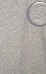 Extreme Low Square Cut Swim Trunks Heather Grey Cotton/Lycra Fabric